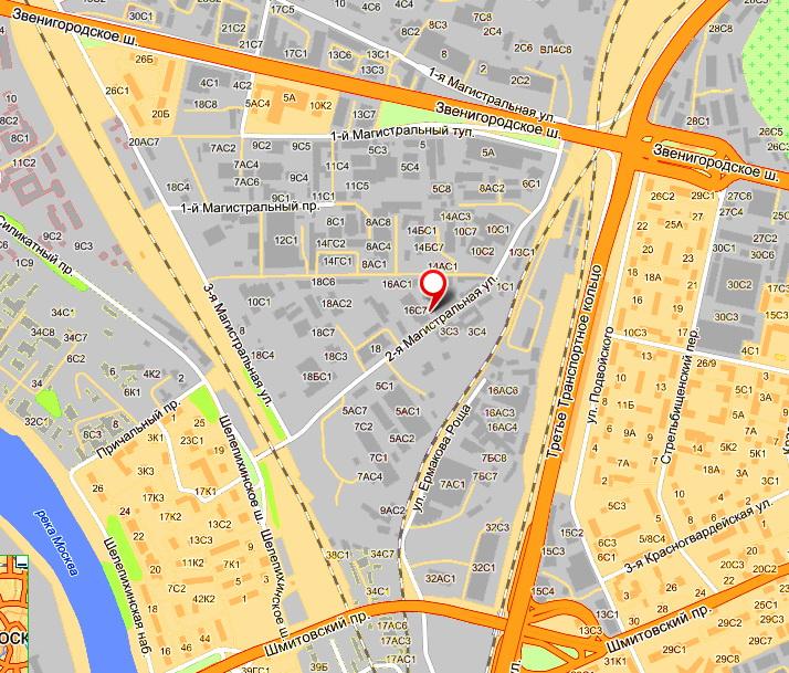 Карта проезда на 2-ю